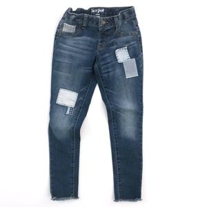 Cat & Jack Girls Patched Jeans 8
